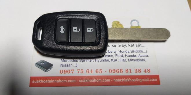 làm chìa khóa xe ô tô honda giá rẻ tại hcm lh 0966813848